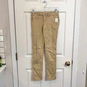 NWT Aeropostale 000 Reg Khaki Twill Skinny Pants